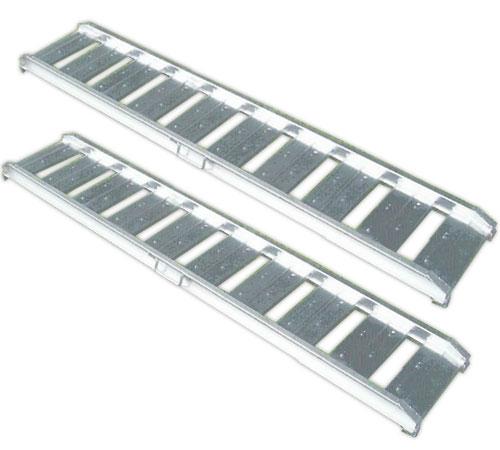 アルミス アルミブリッジ ABS-180 0.5t/2本セット・250幅 [ツメ] 【スロープ アルミブリッジ アル...
