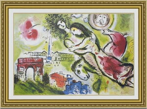 【送料無料】絵画■シャガール■ロミオとジュリエット■選べる額縁■額装込■名画■有名絵画■壁掛け…