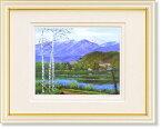 小林幸三・松原湖と八ヶ岳(長野)(絵画・版画)