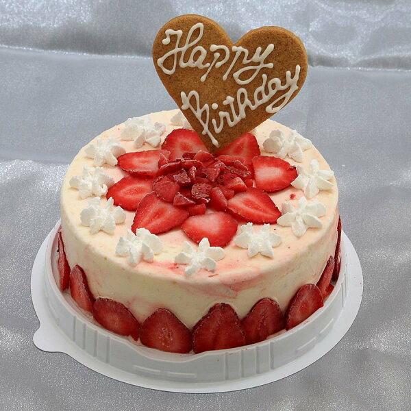 苺のミルフィーユアイスケーキ5号スタンダートタイプ4〜6人分バースデーアイスケーキお誕生日お誕生日プレゼントアイスクリームケーキ