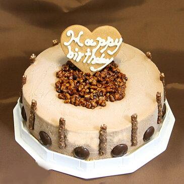 チョコレートアイスケーキ 6号サイズ 直径18cm 大きめサイズ 大人数用 チョコレートは最高級品質 お誕生日 バースデイ お誕生会 ホームパーティ プレゼント カード付き アイスクリーム 魁ジェラート