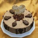 【送料無料】アイスケーキ 誕生日 チョコレートアイスケーキ 6号サイズ 直径18cm 大きめサイズ ケーキアイス 大人数用 ケーキ アイス お誕生日 バースデイ お誕生会 ホームパーティ プレゼント カード付き アイスクリーム 魁ジェラート・・・