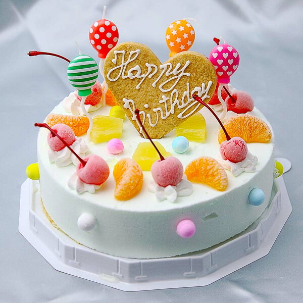 アイスケーキ誕生日スイーツサマーレインボーケーキラムネ味6号18cmアイスギフトアイスクリーム誕生日ケーキ大人子供さっぱりラ