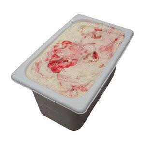 苺のミルフィーユ 業務用アイスクリーム ストロベリーをサンド 家庭用 ギフトでも可 イベント模擬店でも可 容量4リットル デッシャーで40個分 宅配便 アイスクリーム 魁ジェラート