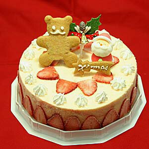 苺のミルフィーユアイスケーキ6号 クリスマスケーキ2018 クリスマス子供  6号大型サイズ(6人〜8人用)スライスした苺を貼り付け クリスマス限定商品 ☆2018年クリスマスアイスケーキ