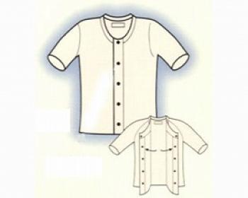 【あわせ買い2999円以上で送料無料】紳士 前開き5分袖 AB13/2枚組 ホワイト