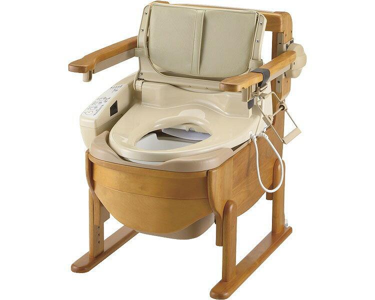 木製トイレきらく 洗優 肘掛け跳ね上げ:介護もーる 介護用品専門店
