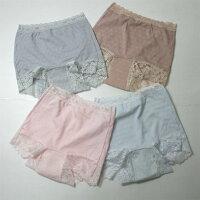 【婦人30cc】【ジャガード織り1分丈】日本製女性用失禁パンツ/1分丈ショーツ【32019】