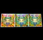 【中古】 ロッテ ビックリマンシール ウェイクアップガールズ ミル  2030H 3種セット  カード【山城店】