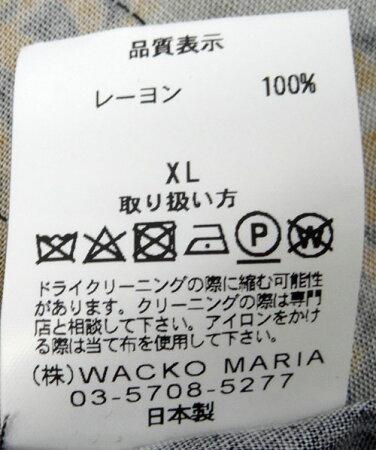 【中古】【メンズ 古着】WACKO MARIA ワコマリア/TIGERS S/S HAWAIAN SHIRT/アロハシャツ/サイズ:XL/色:黒/ストリート/半袖/レーヨン/17SS【山城店】