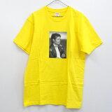 【中古】【メンズ 古着】Supreme 17SS Michael Jackson Tee/シュプリーム マイケルジャクソン Tシャツ/黄色/サイズ:L/フォトプリント/ストリート【山城店】