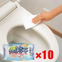 【10袋セット】トイレワイパーウェットシート30枚入り