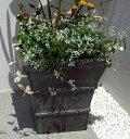 アルファ グレー 32cm ファイバークレイ アンティークテラコッタ風 寒さにも強い植木鉢軽量シンプルモダン北海道・沖縄・離島出荷不可