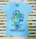 ○o。【新作入荷!!】大人気!!ハワイアンブランド88TEES*レディース半袖Tシャツ*S*M*L 水色【エイティーエイトティーズ】ハワイ人気ブランド*YAYA 88ティーズ。o○