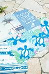 ○o。ハワイアンレインボーホヌプルメリアバスマット玄関マットインテリアマットハワイアンインテリアホヌ海亀カメ。o○
