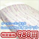 【在庫処分価格】天然素材の綿100%!気持ちいい肌触りのタオルケット在庫処分価格 オーナメン...