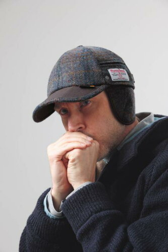 ハリスツイードイヤーマフキャップWEGENER(ウェゲナー)社 帽子耳あて付き (rs1)