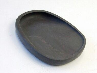 斧柯岩蛋型淌池硯五吋