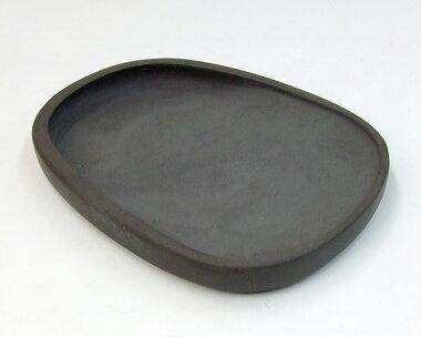 斧柯岩蛋型淌池硯七吋