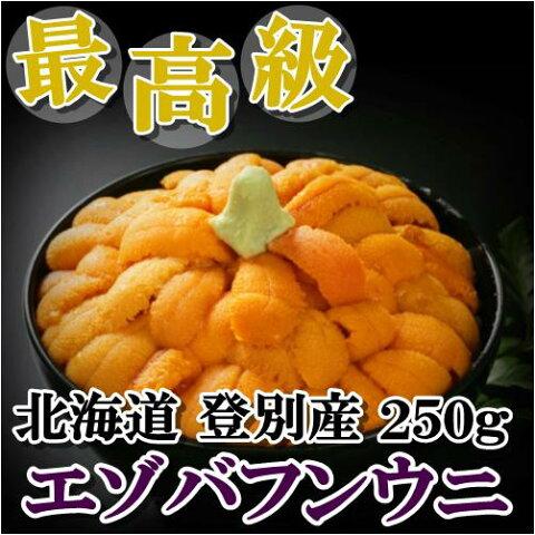 北海道産【極上グレード】無添加塩水生うに250gエゾバフンウニ