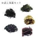 お試し海藻5品セット ポッキリ 送料無料 お試し お得セット 海藻