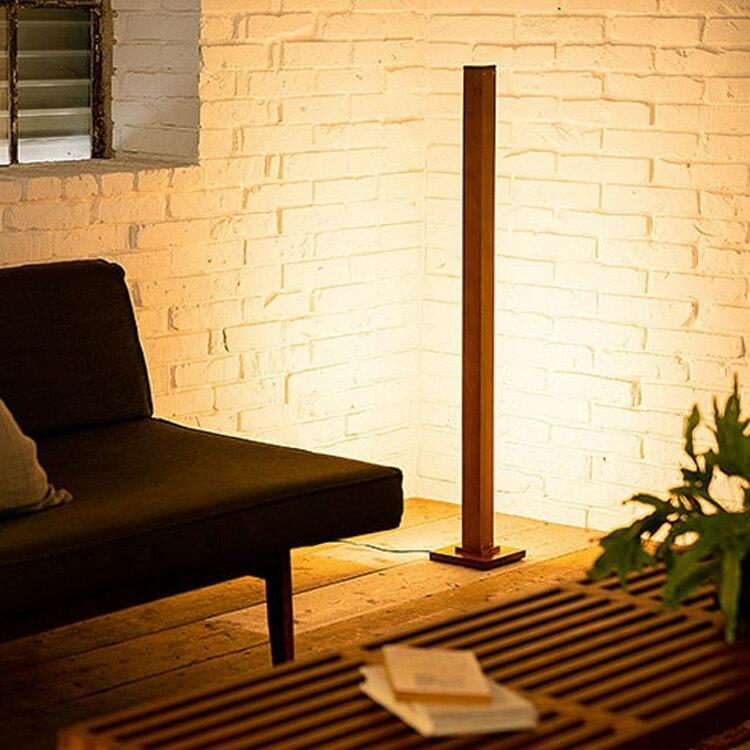 照明 LED フロアライト ランバー【ライト リモコン 調光 調色 フロア フロアランプ 間接照明 寝室 照明器具 スタンドライト シアターライティング かわいい おしゃれ 北欧 ナチュラル ブルックリン 一人暮らし 天然木 ウォールナット テレワーク 在宅】