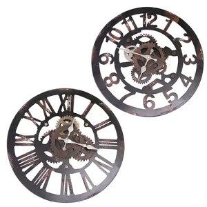 掛け時計 ファクトリー おしゃれ ウォール クロック アイアン スチール ビンテージ ヴィンテージ アンティーク ブルックリン インダストリアル インテリア