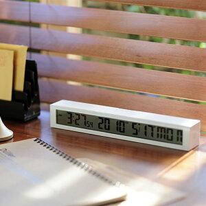 【ポイント10倍】 置き時計 置時計 時計 目覚まし時計 目ざまし時計 アラーム カレンダー イン...
