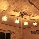 【送料無料】照明 LED 対応 シーリングライト 4灯 クラックキュー...
