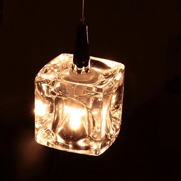 照明 ガラスキューブ LED ペンダントライト 1灯 【ライト ハンギング 照明器具 インテリア照明 天井照明 天井 トイレ おしゃれ ダイニング 北欧 ペンダントランプ アンティーク レトロ ガラス キューブ リビング用 居間用 インテリア】