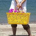 即納 マハロ バスケット ブランドエコバッグ ランドリー かご プレゼント 買い物袋 トートバッ...