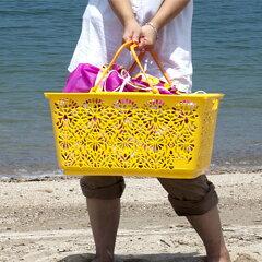 マハロ マハロバスケットハワイアン雑貨 収納 エコバッグ 買い物袋 買い物かご レジカゴ 行楽 ...