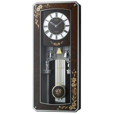 【送料無料】電波時計 プライムメネット 4MN518RH06 リズム時計【掛け時計 時計 ウォールクロック 壁掛け 電波 電波壁掛け時計 壁掛け時計 ラクジュアリー 高級 報時 モダン からくり時計 からくり メロディ 音楽 百合 新生活 インテリア】