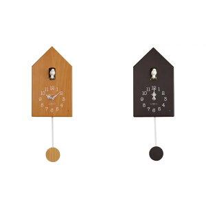 掛け時計 クロック CLOCK おしゃれ インテリア雑貨掛け時計 13種類の鳥の鳴き声 木の温かみのあ...