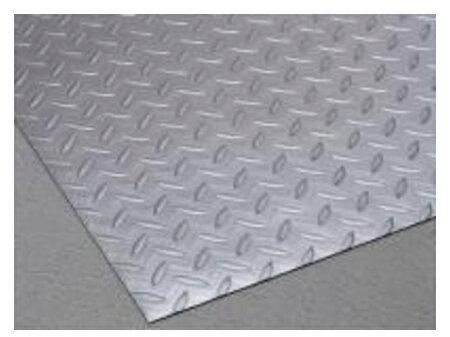 リサイクル長マット縞鋼板シルバー