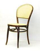 籐のカフェチェア(1)イエロー&ダークブラウン背も座も籐の編みこみの椅子です