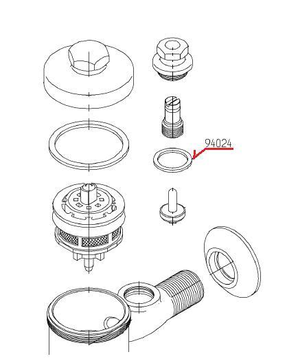 TOTOパッキンTH94024とーとートートーtoto東洋陶器東陶ネコポス対応交換取り替えノンアスベスト水周り外径23mm内径1