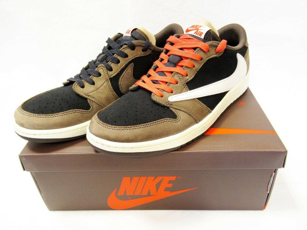 メンズ靴, スニーカー NIKE TRAVIS SCOTT AIR JORDAN 1 LOW OG SP-T (CQ4277-001) size 28cm