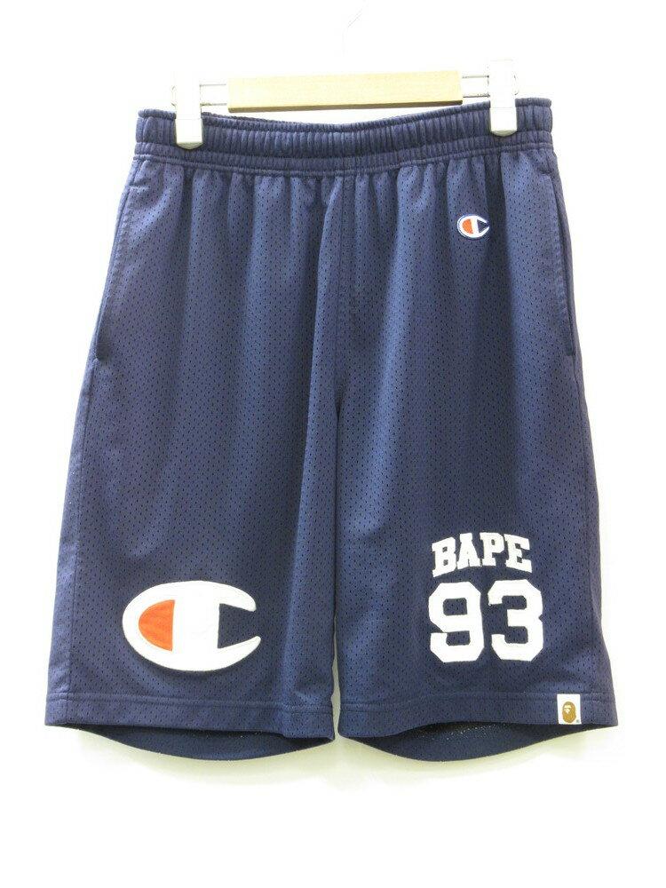 メンズファッション, ズボン・パンツ A BATHING APE x CHAMPION BAPE BASKETBALL SHORTS M (BT-203)