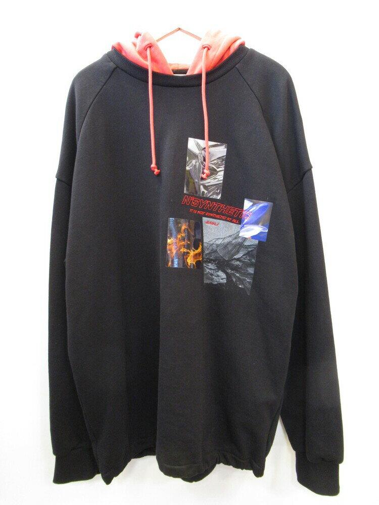 トップス, パーカー Juun.J Graphic-print Cotton-jersey Hoody M JC9841P245 (TP-724)