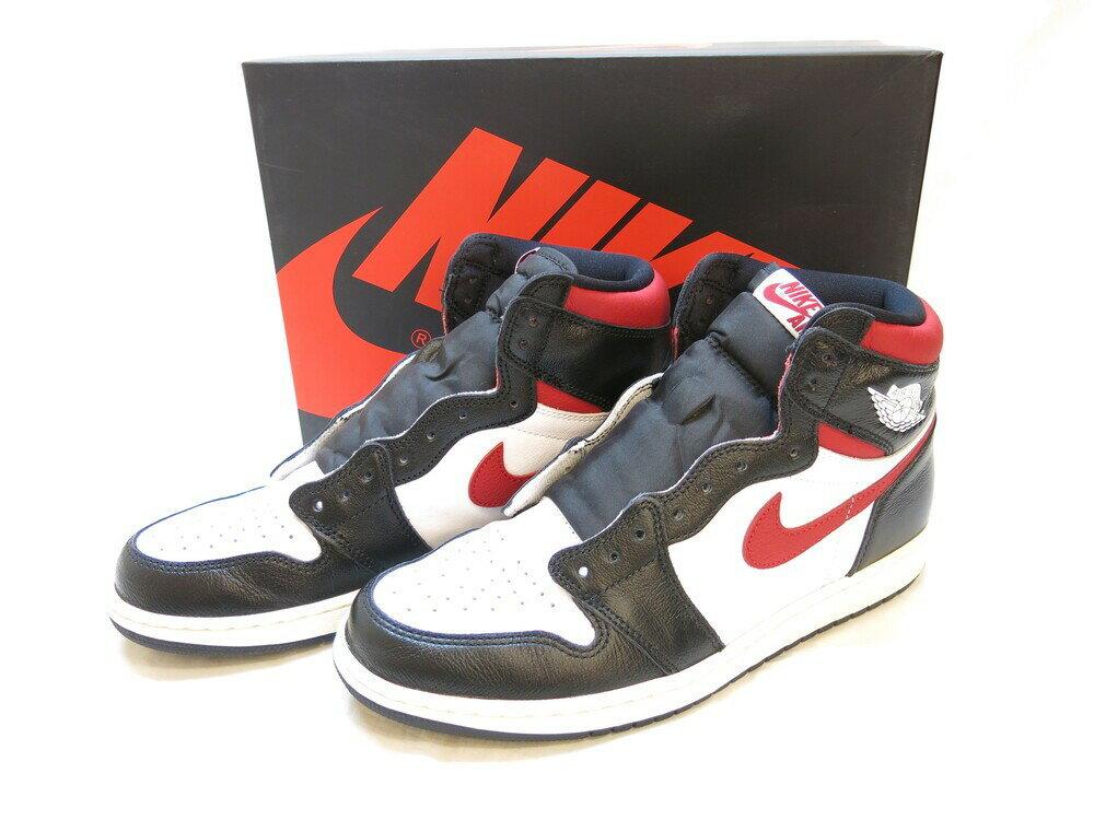 メンズ靴, スニーカー NIKE AIR JORDAN 1 RETRO HIGH OG BLACKGYM RED-WHITE-SAIL 1 28.5cm 555088-061 (SH-518)