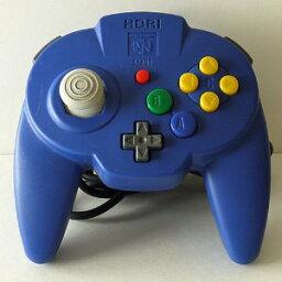 【送料無料】【中古】N64 任天堂64 ホリパッドミニ64 ブルー コントローラー 本体