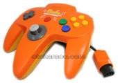 【送料無料】【中古】N64 任天堂64 コントローラーBros.ピカチュウ N64コントローラ オレンジ N64