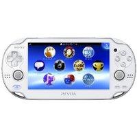 ジャンク使用不可    中古 PlayStationVitaWi‐Fiモデルクリスタル・ホワイト(PCH-1000ZA02)本