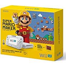 【送料無料】【中古】Wii U スーパーマリオメーカー セット 本体(箱付き)