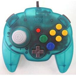 【送料無料】【中古】N64 任天堂64 ホリパッドミニ64 オーシャンブルー コントローラー 本体