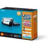 【送料無料】【中古】Wii U すぐに遊べるファミリープレミアムセット(クロ) 黒 任天堂(マリオU、パーティーU内蔵)(箱説付き)