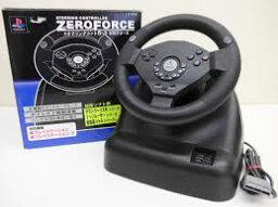 【送料無料】【中古】PS プレイステーション ステアリングコントローラ ZERO FORCE コントローラー