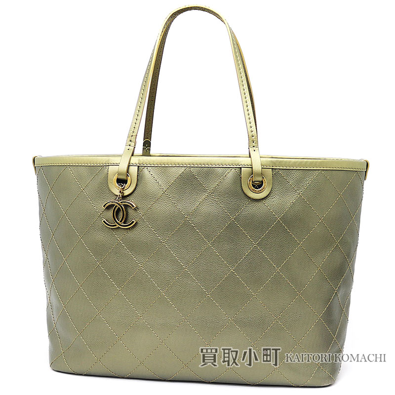 CHANEL quilted tote CHANEL CC A92327 20 CAVIARSK...