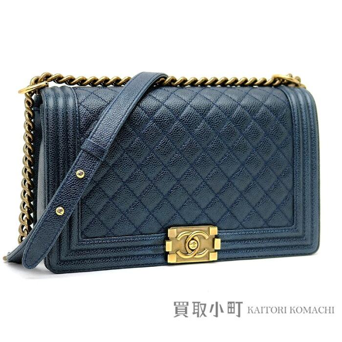 b28b469a3f05 KAITORIKOMACHI | Rakuten Global Market: Chanel boy Chanel large flap bag  caviar skin navy-